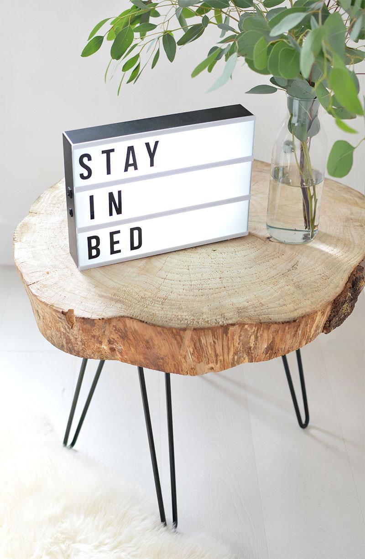 Small Apartment DIY Minimalist Tree Slice Coffee Table