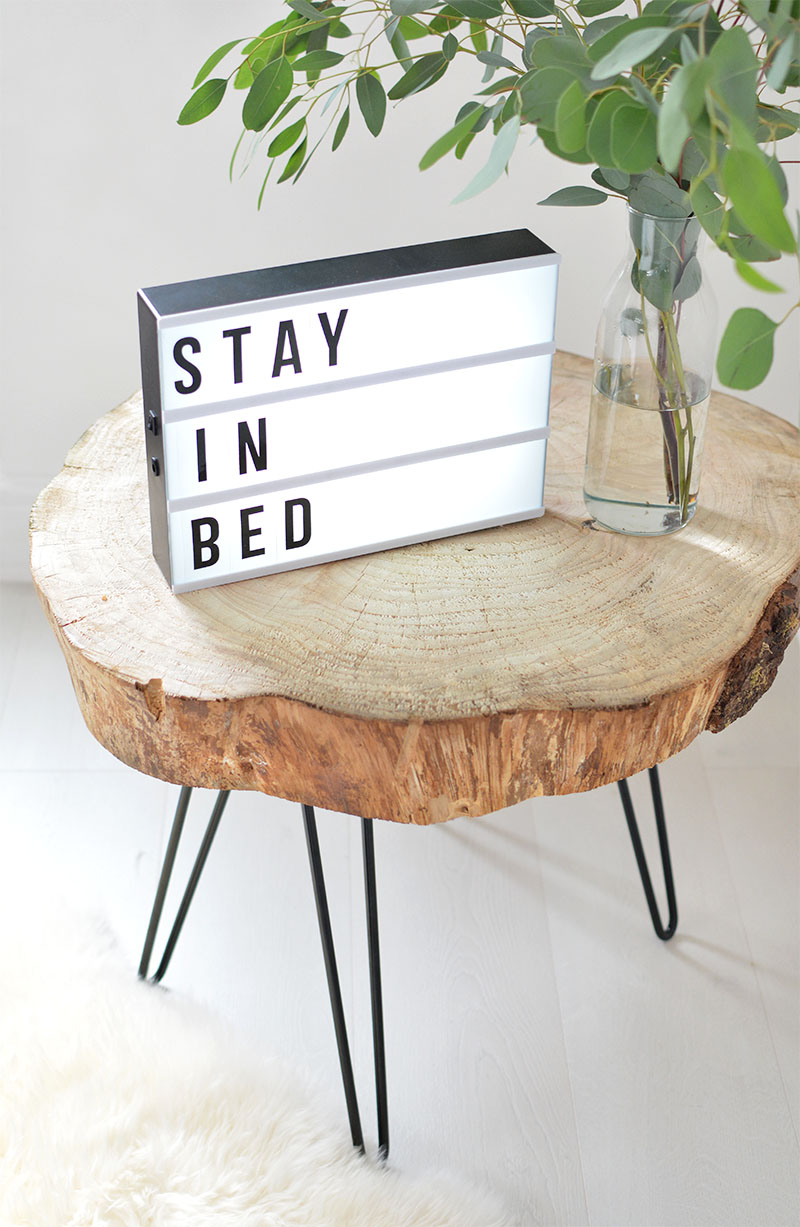 Diy tree slice hairpin table burkatron - Rondin bois deco ...