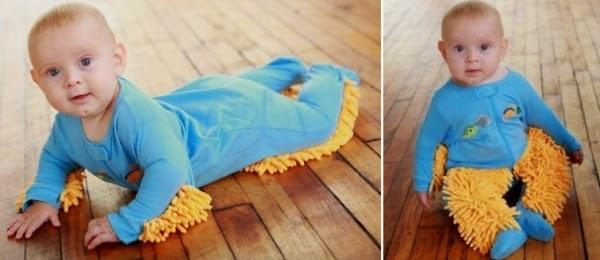 Lapsimoppi on tehokas apu siivouksessa
