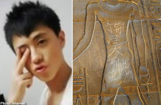 China Tourist Damages Historical Relic in Egypt