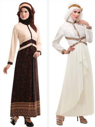 Contoh Model Busana Muslim Gamis Trendy