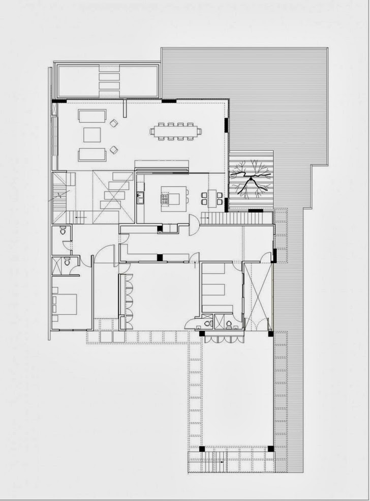 First floor plan of Modern dream home by Paz Arquitectura
