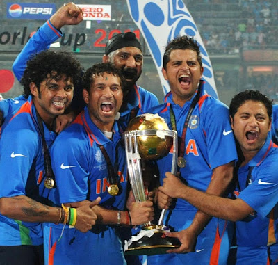 team india enjoying cup