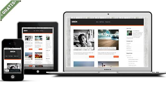 plantilla siren responsive blogger gratis