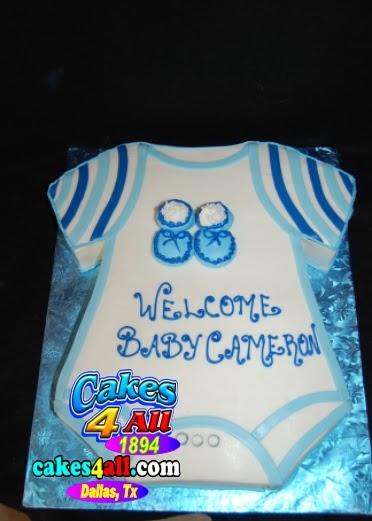 Cakes 4 All In Dallas Blue Onesie Baby Shower Cake Dallas