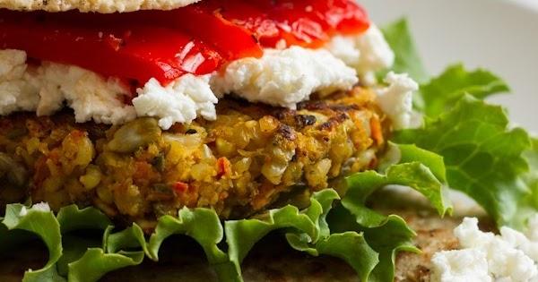 Curry Spiced Lentil Rice Veggie Burger   Maggie's Secret Box