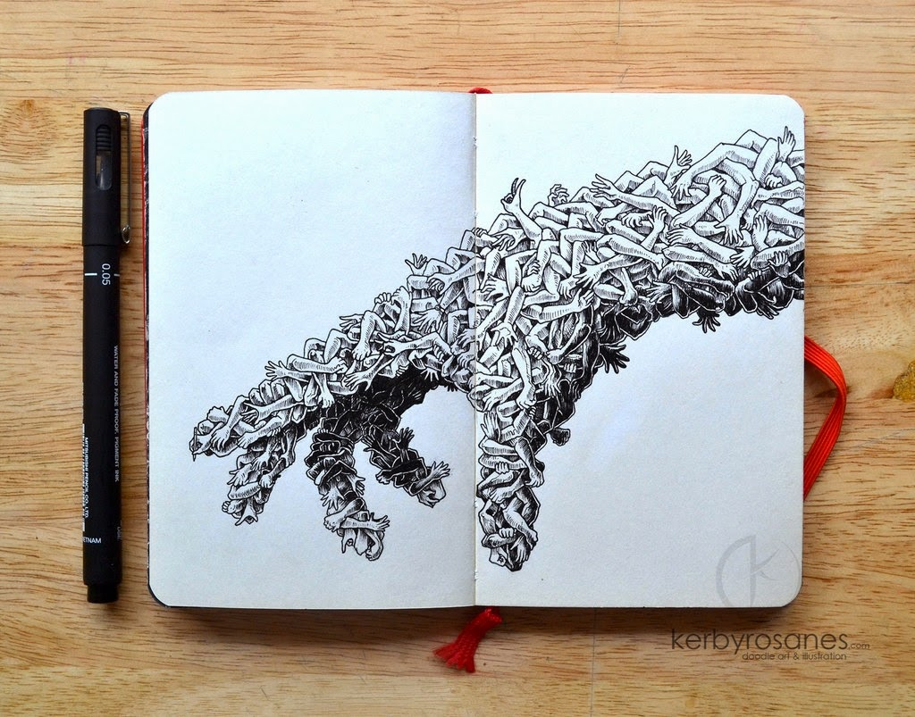 01-Handmade-Kerby-Rosanes-Detailed-Moleskine-Doodles-Illustrations-and-Drawings-www-designstack-co