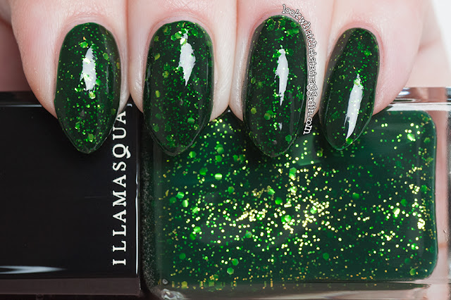 Illamasqua Destiny nail polish, Myer Australia exclusive for Chinese New Year swatch manicure