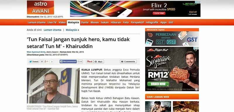 1MDB Barulah Pak Cik Faham Kenapa Fakta dan Auta