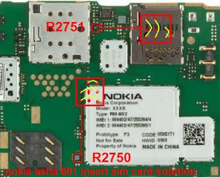 Nokia Asha 501 Insert Sim IC Solution Jumper