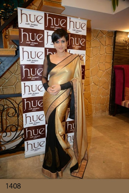 Bollywood Cream Gold Silk Saree