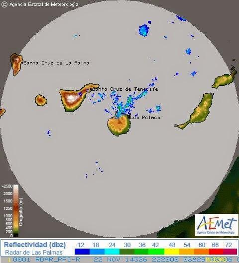 Fuertes lluvias  norte de Gran Canaria sábado 22 noviembre