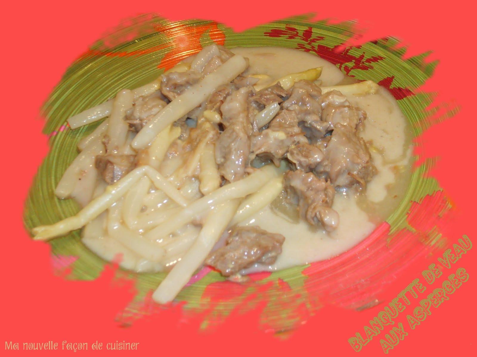 Ma nouvelle fa on de cuisiner blanquette de veau aux asperges 6 propoints - Cuisiner la blanquette de veau ...