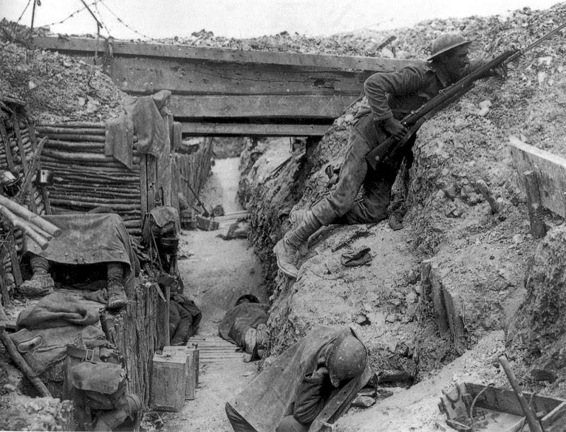 This was to stop soldiers being able to charge at the trench. title=