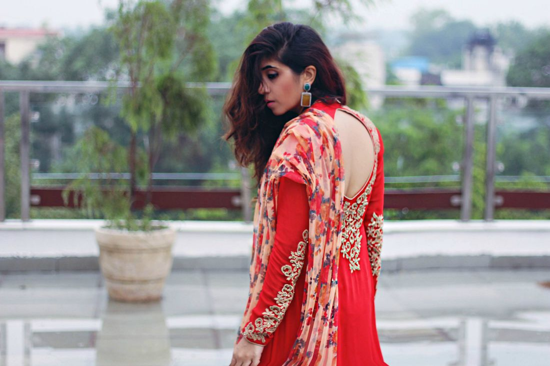 backless suits , anarkali suits