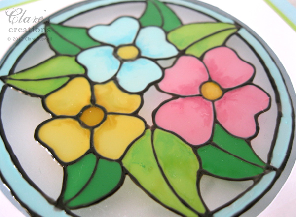 ... Glass Paint... Easy Flower Designs For Glass Painting