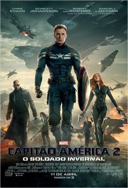 """Poster do filme """"Capitão América 2 - O Soldado Invernal"""""""