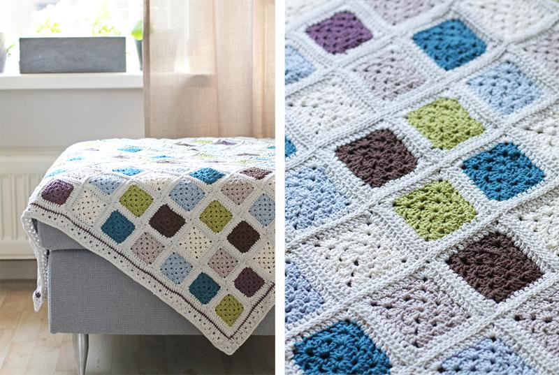 Mini Granny Square Plaid Crochet