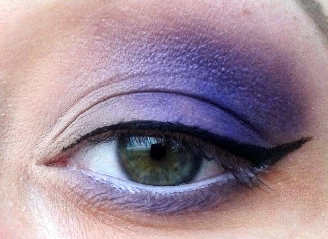 My Secret Natural Beauty - Night Out, czyli obłędne, fioletowe maty - makijaż krok po kroku