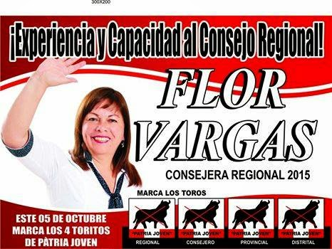 FLOR VARGAS CANDIDATA A CONSEJERA REGIONAL.