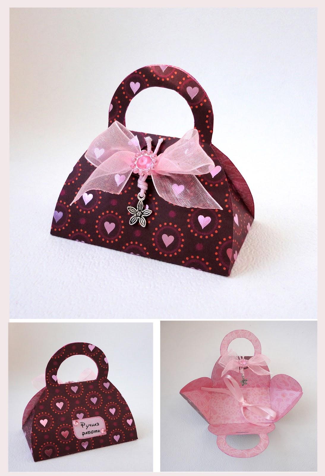 Коробочки и сумочки из бумаги своими руками