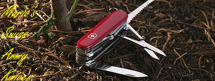 Mario's Swiss Army Knives