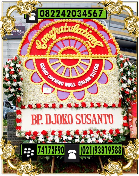 papan bunga happy anniversary
