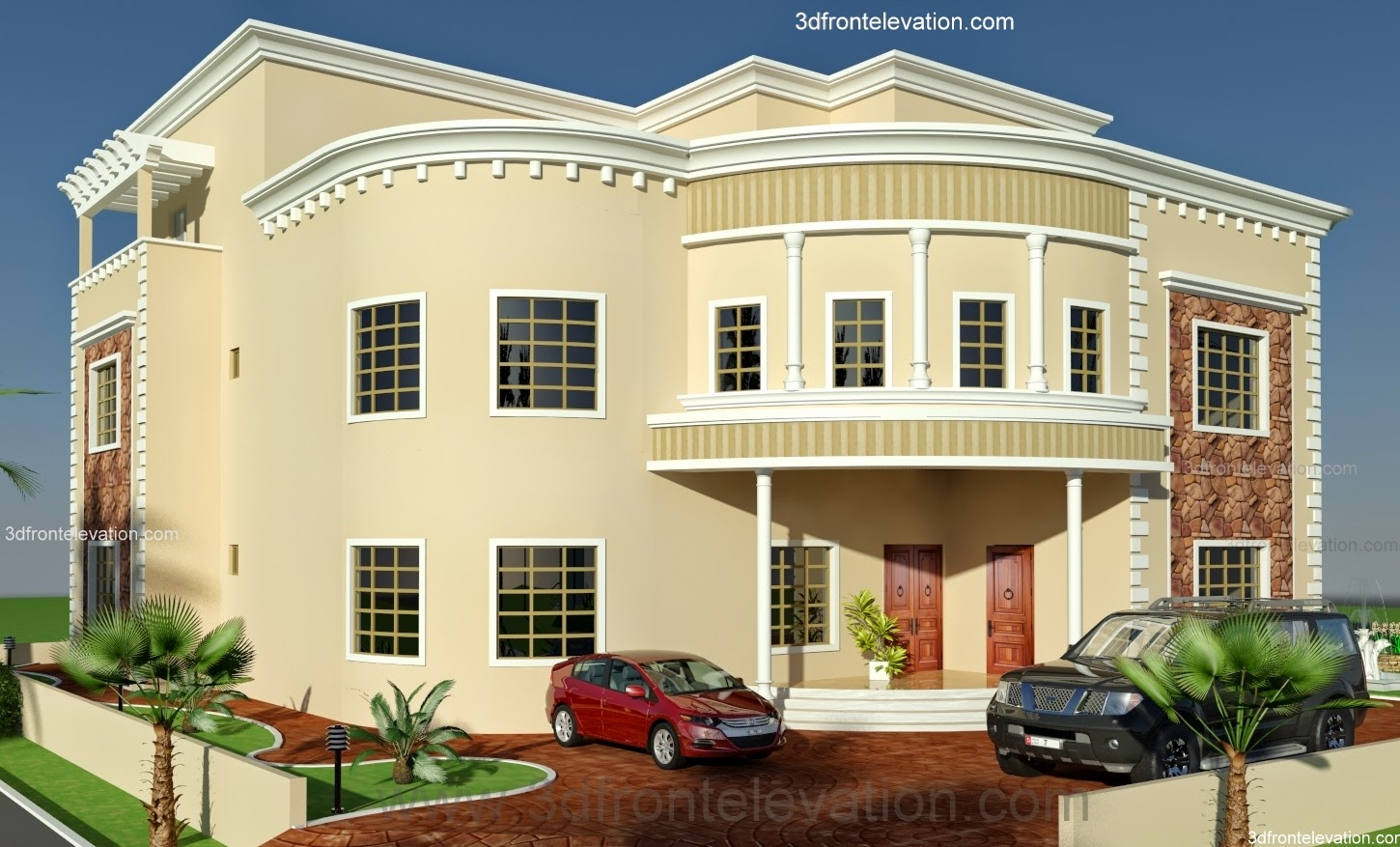 3d Front Oman New Arabian Villa Plan Design