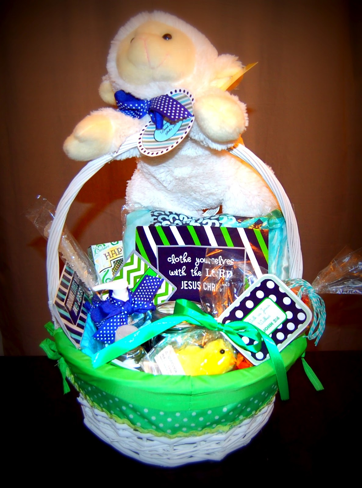 Easter basket re label clothe yourselves with the lord for those of you who still have room in your baskets mine is full as you can see i leave you with several ideas to make on your own negle Gallery