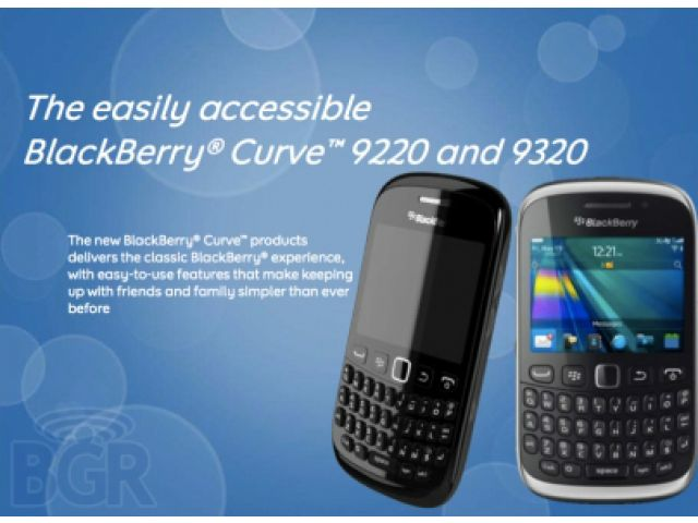 BlackBerry 9320 and 9220 will be released in Indonesia