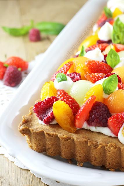 Tarte Sablée Mousse Chocolat blanc Fruits