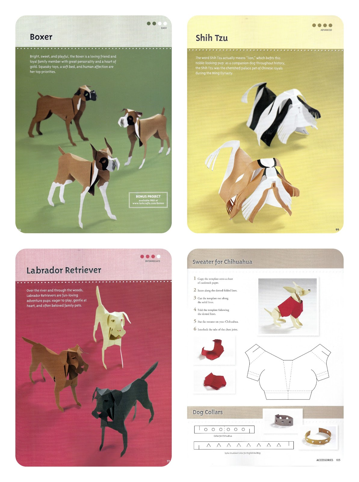 Paper dog template images for Dog craft ideas
