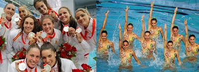 Equipo español de natación sincronizada, medallista en Pekín 2008