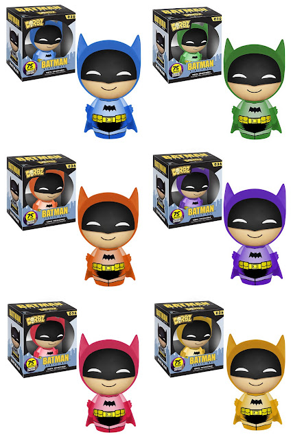 The Rainbow Batman Dorbz Vinyl Figure Series by Funko