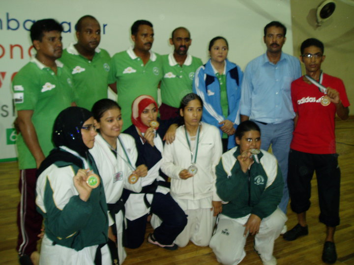 Medal holders players & officials in Korean Ambassador championship 2010