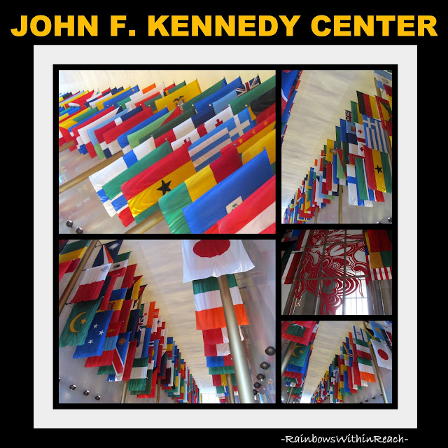 photo of: Kennedy Center Hall of Nations, display of flags from around the world