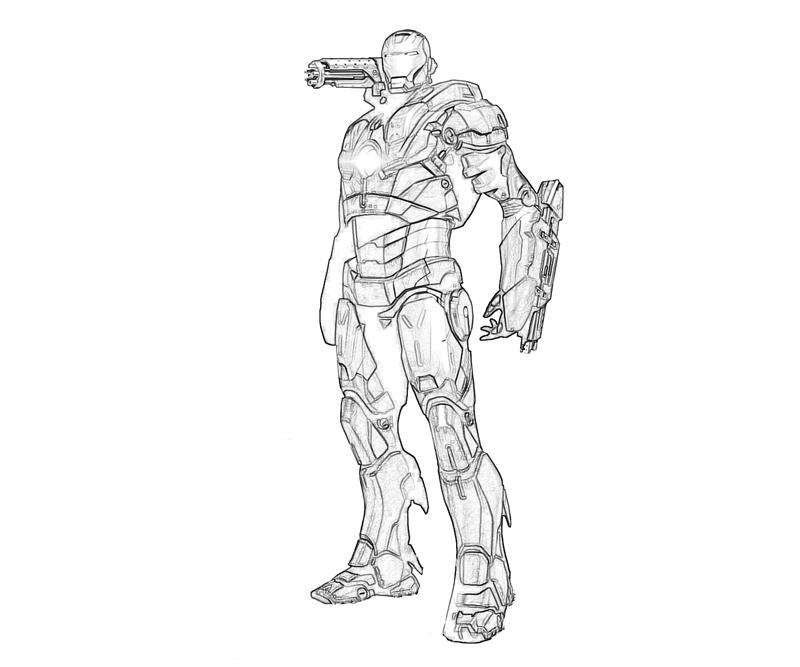 war machine coloring pages - marvel ultimate alliance 2 war machine cartoon how coloring
