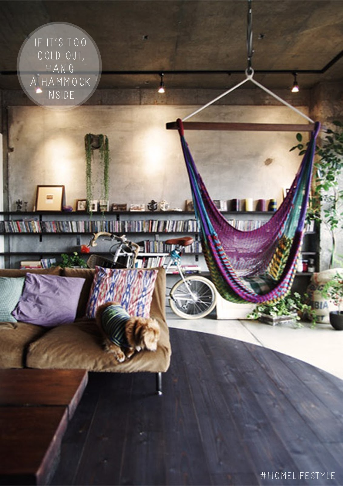 Living Room Hammock : Impressive Indoor Hammock Designs For Ultimate Relaxation