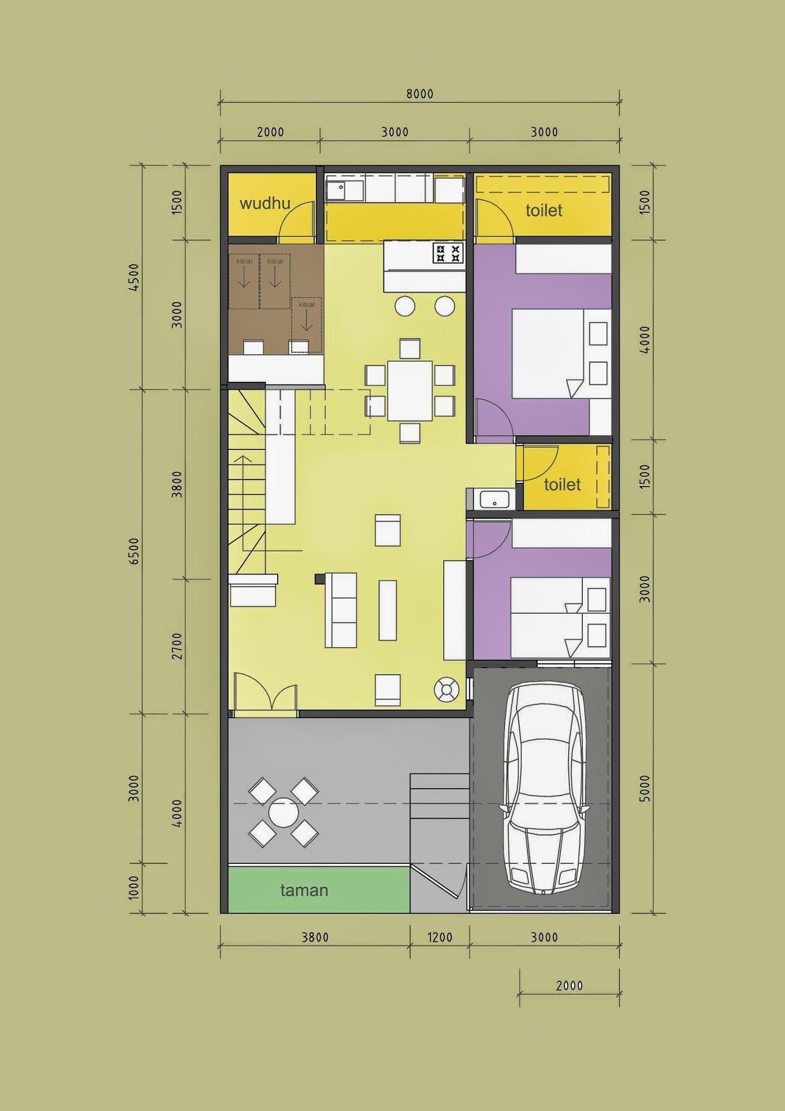 Sketsa Desain rumah Minimalis