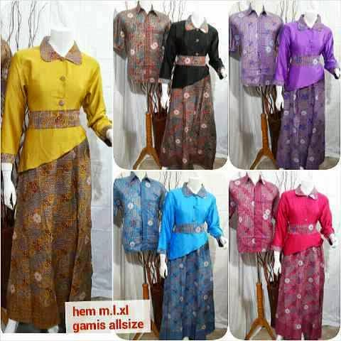 Baju Batik Seragam Pasangan Pria Wanita Baju Batik