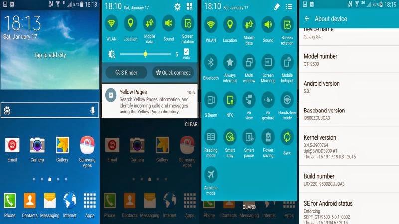Pembaharuan Lollipop 5.0.1 Hadirkan Fitur Knox di Galaxy S4