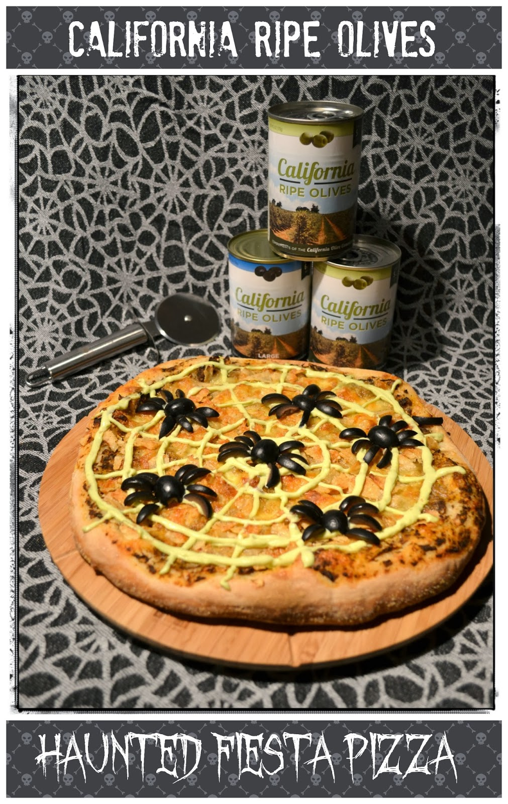 Jennuine by Rook No. 17*: Halloween Party Food: Haunted Fiesta Pizza
