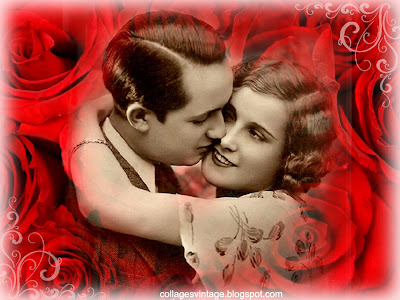 pareja vintage background