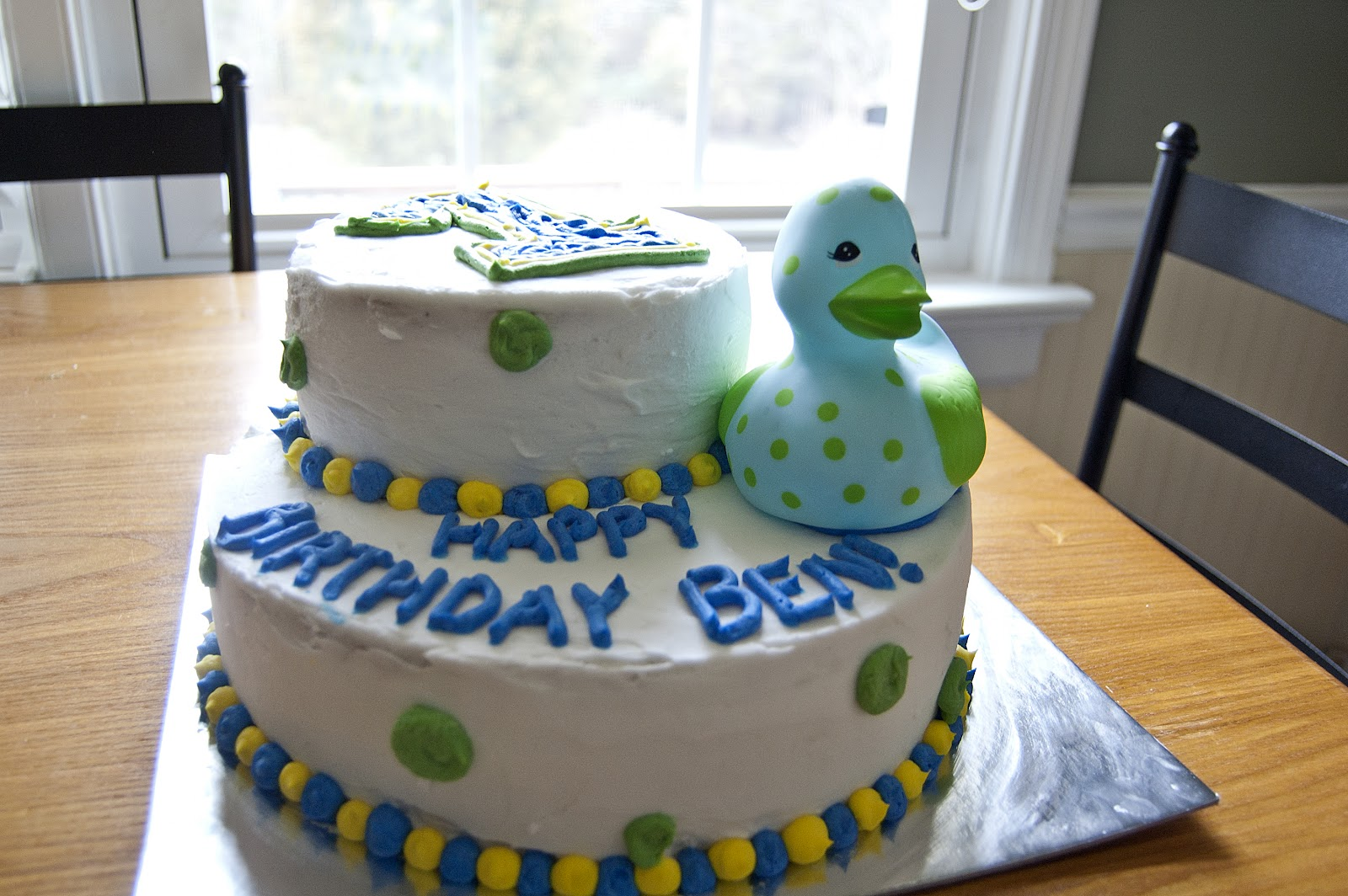 Ohh Baby A Ducky First Birthday Cake