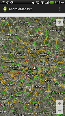 Turn on Traffic Layer of GoogleMap V2