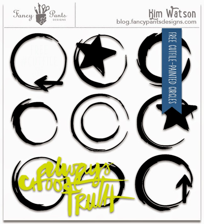 FREE Painted Circle cut-file by Kim Watson