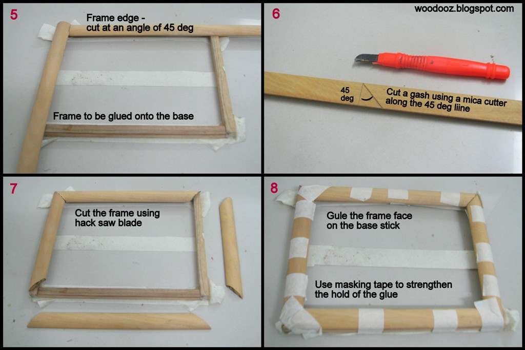 How to make a photo frame at home : Indian Woodworking,DIY,Arts,Crafts ...