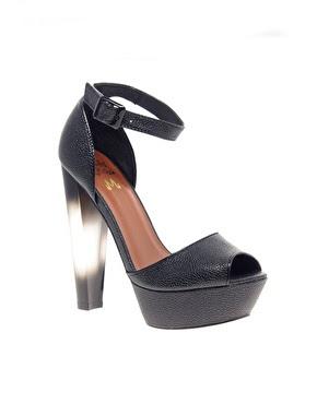 Sammi Jackson - Black mesh & perspex heels