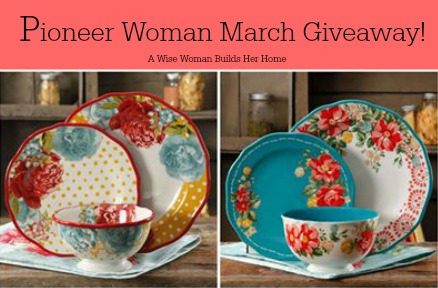 PIONEER WOMAN MARCH GIVEAWAY!