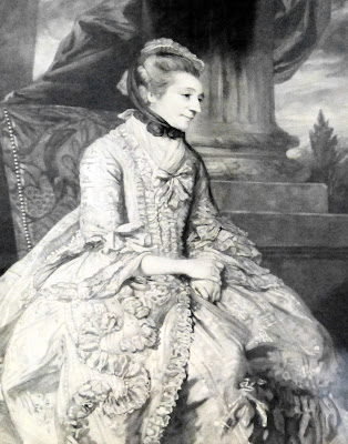 Elizabeth Montagu from a print on display in Dr Johnson's House Museum